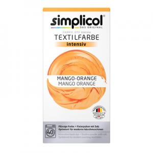 Vopsea profesională Simplicol Intensiv pentru textile - PORTOCALIU MANGO 400 g