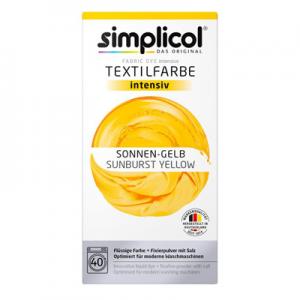 Vopsea profesională Simplicol Intensiv pentru textile - GALBEN 400 g