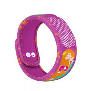 Brățară Para'kito anti-tânțari Copii + 2 tablete, magenta, sirena