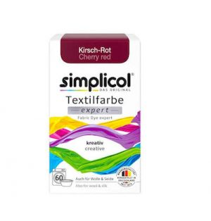 Vopsea textile Simplicol expert - Rosu Cires (150 gr)