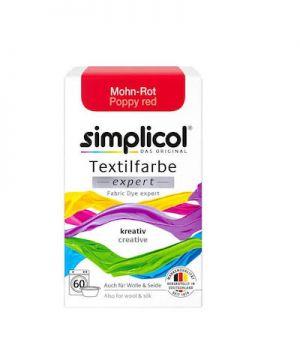 Vopsea textile Simplicol expert - Rosu Mac (150 gr)